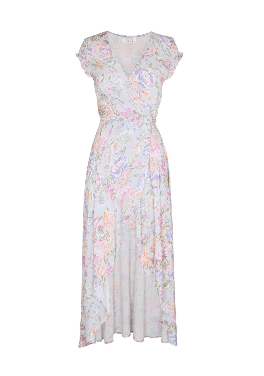 New Romance Petal Wrap Maxi Dress Sky