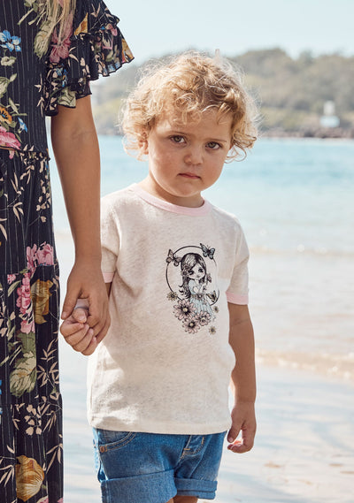 Little Auguste Butterfly Girl Tee - Little Auguste - Auguste The Label