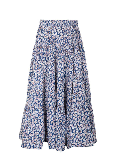 Little Miss Maxi Skirt Daisy Floral Navy