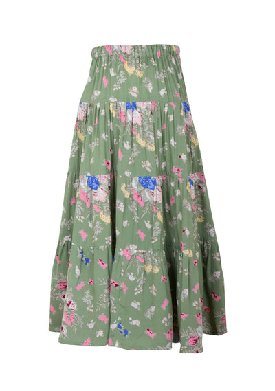 Little Miss Maxi Skirt Eve Floral Khaki