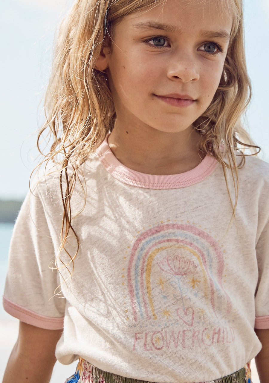 Little Auguste Rainbow Blooms Tee - Auguste The Label