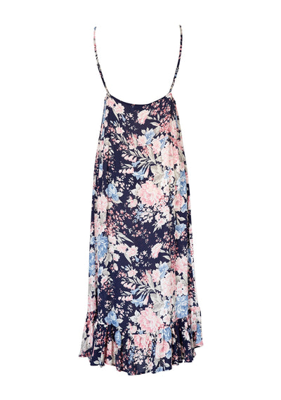 Alice Slip Dress Francis Floral Navy Blue - Auguste The Label