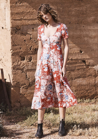 Alice Day Dress Francis Floral Red
