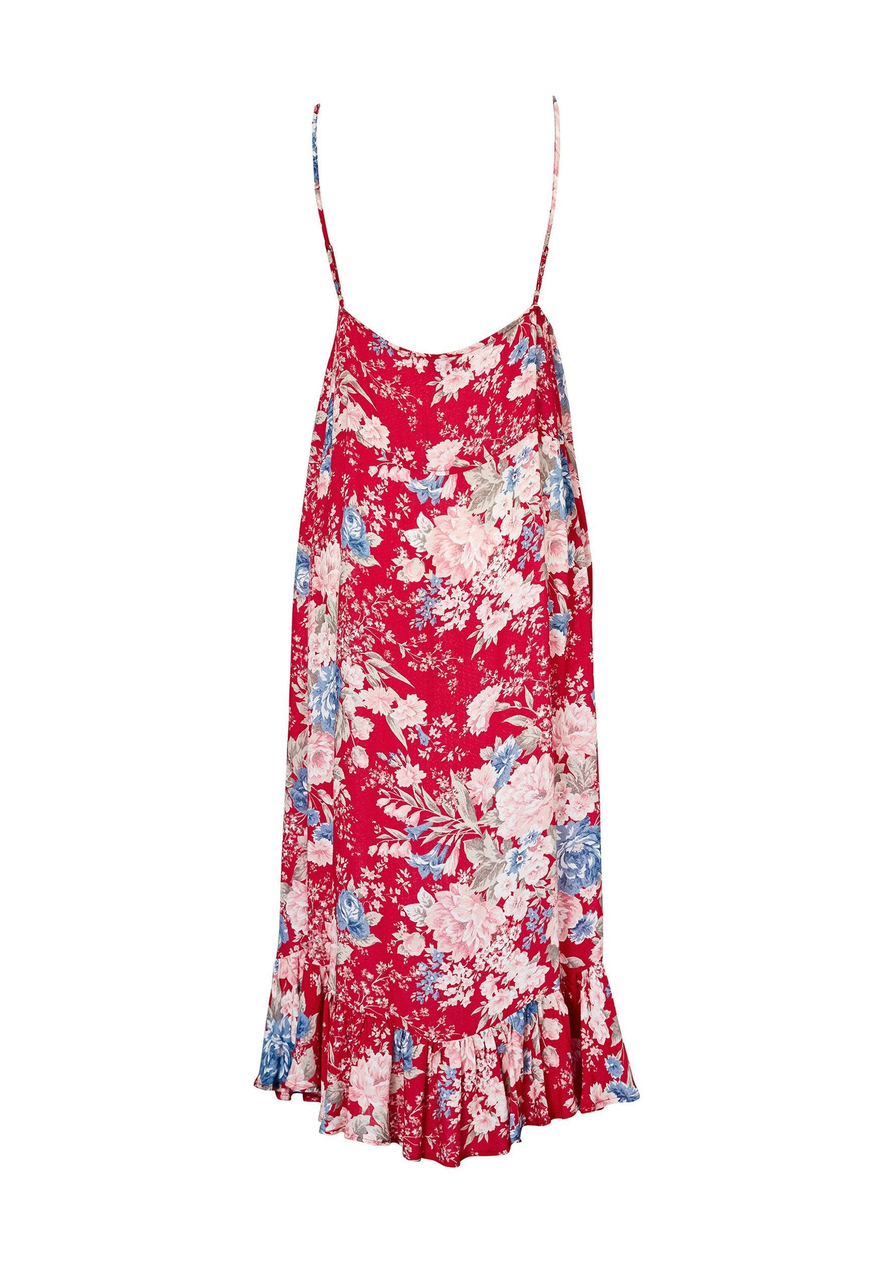 Alice Slip Dress Francis Floral Red