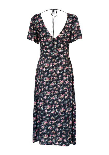 Roxy Lady Dress 90s Ditsy Floral Black
