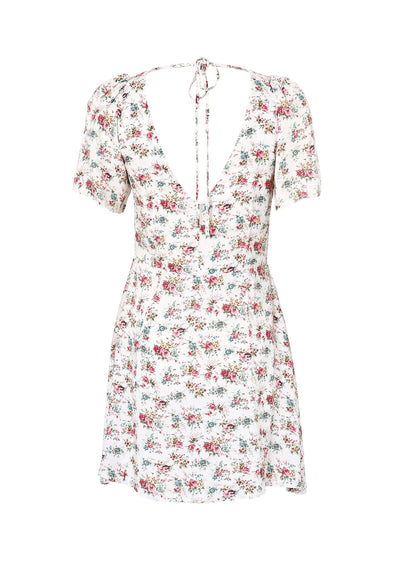 Roxy Play Dress 90s Ditsy Floral Pale Pink - Auguste The Label