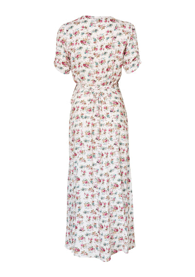 Little Lady Wrap Dress 90s Ditsy Floral Pale Pink - Auguste The Label