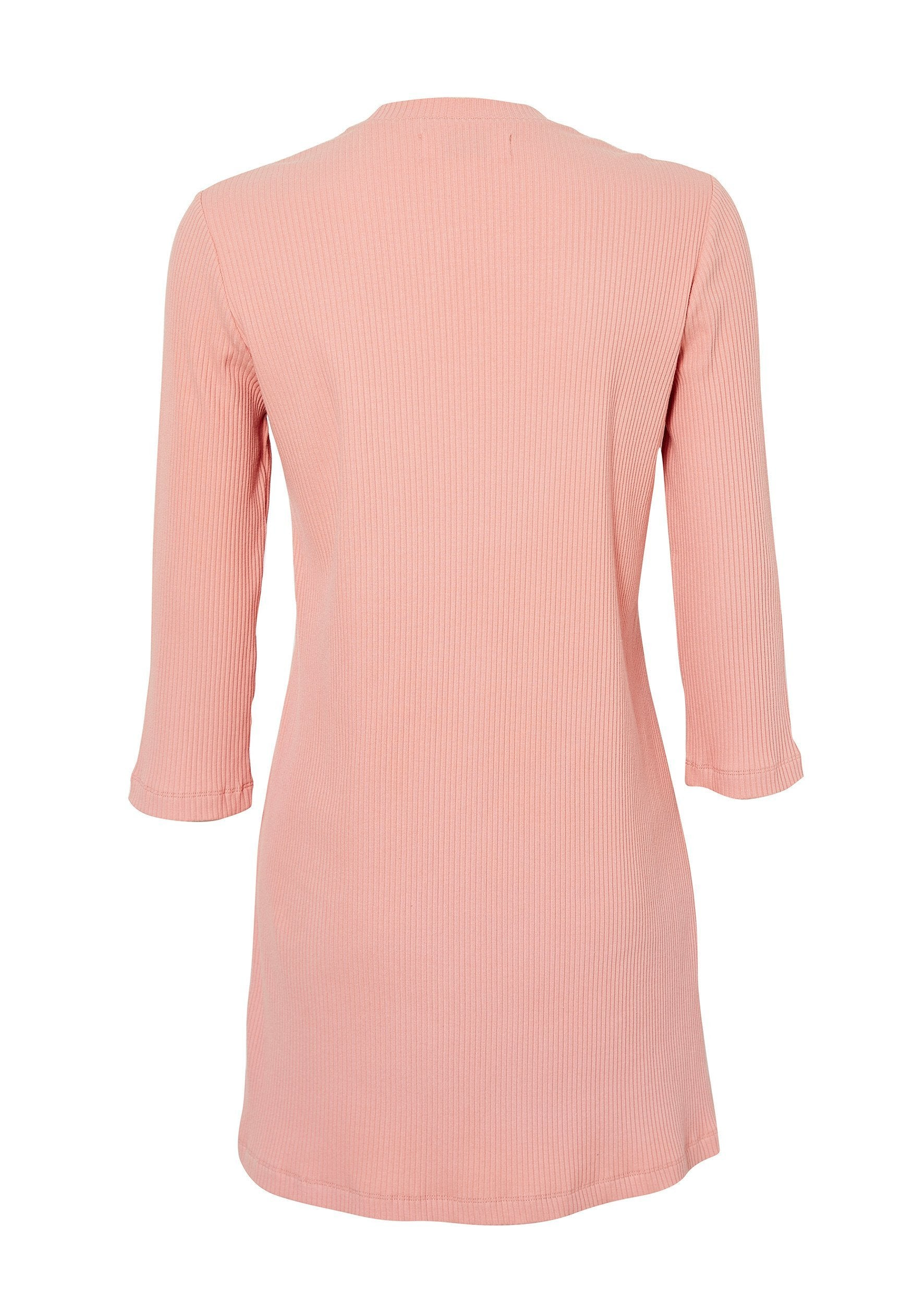 Milla Ribbed Basic Dress Pale Pink