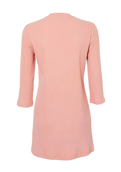 Milla Ribbed Basic Dress Pale Pink - Auguste The Label
