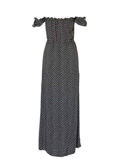 Stevie Maxi Dress Penelope Polka Black - Auguste The Label