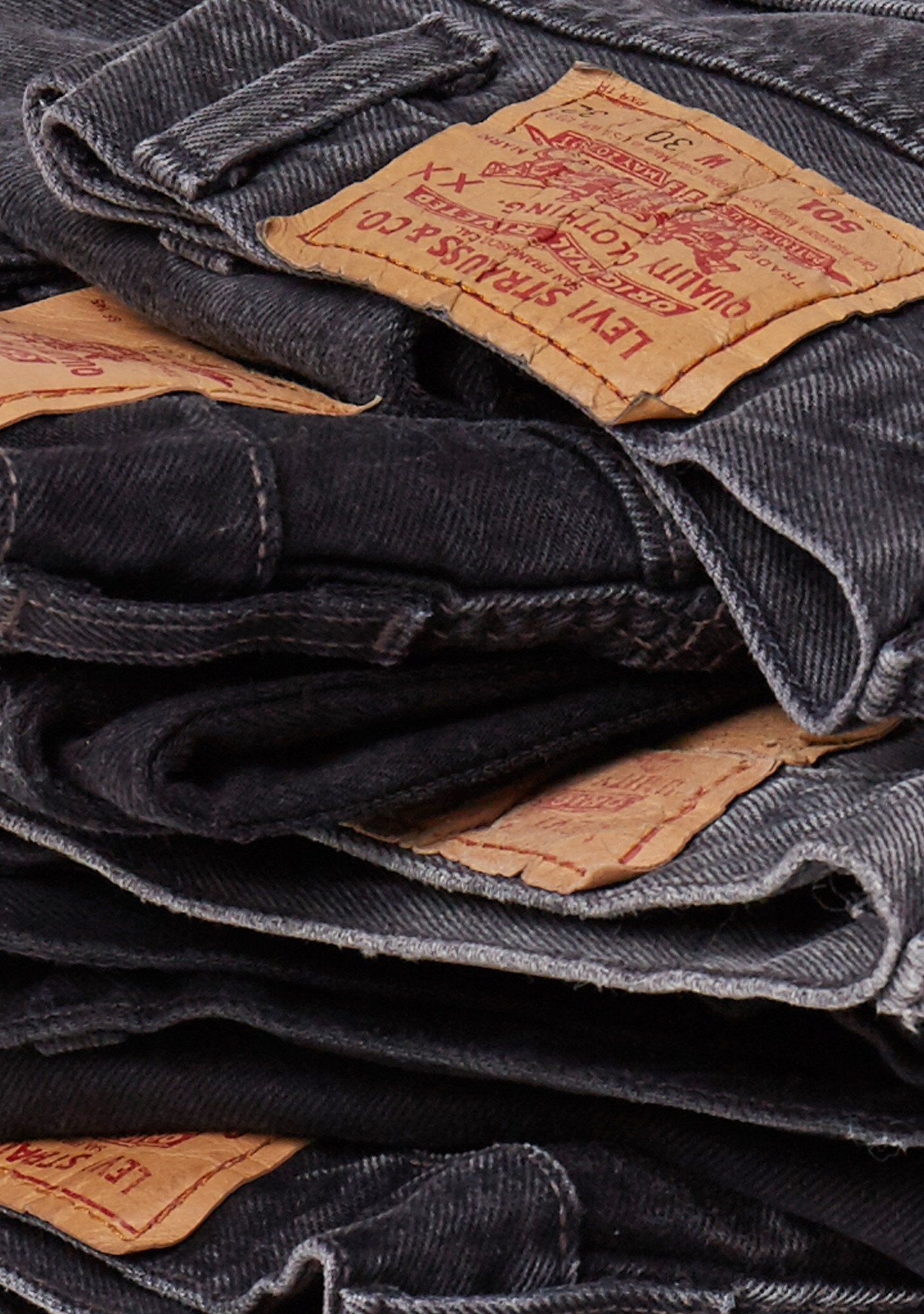 Levis ReSalvaged Black Denim
