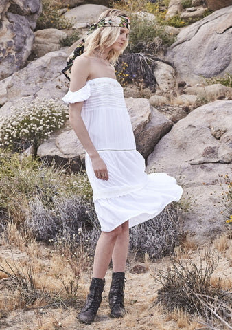 Desert Sun Day Dress White