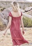 Desert Sun Day Dress Red Musk