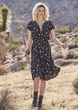 Gypsy Girl Day Dress Desert Sky Black