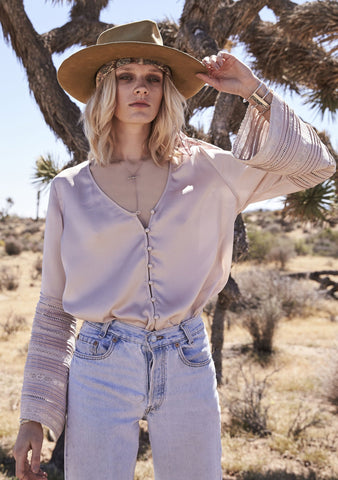 Luxe Bell Sleeved Shirt Sand