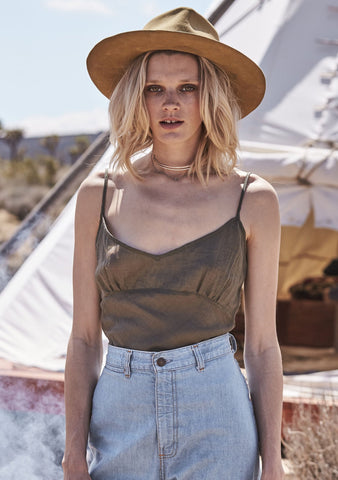 Simple Cami Khaki