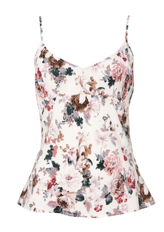 Simple Cami Dusky Blooms Natural