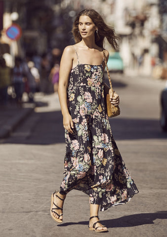 Delilah Slip Maxi Delilah Bloom Black