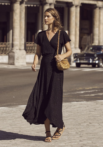 Isabella Muse Maxi Dress Black Lurex