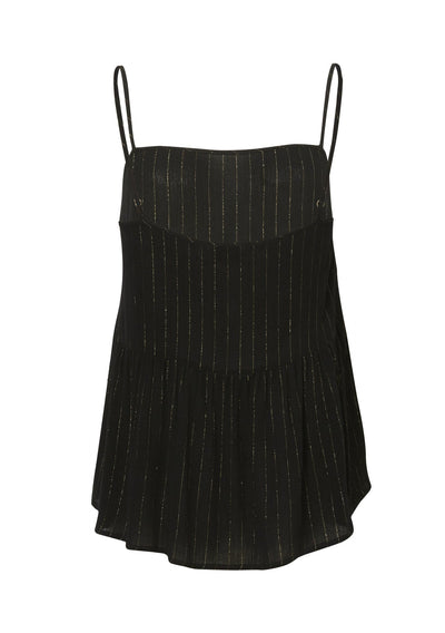 Isabella Slip Cami Black Lurex - Auguste The Label