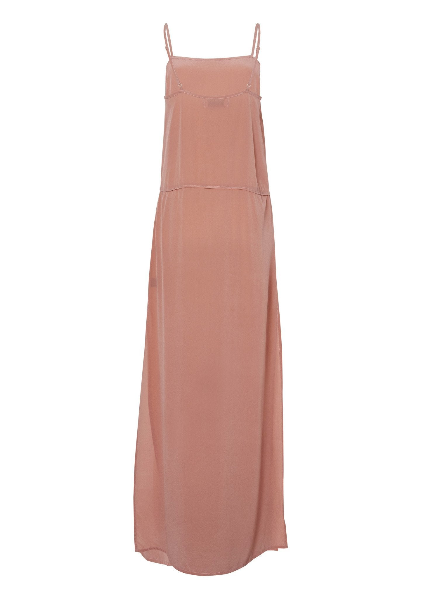Lily Silk Slip Dress Pastel Pink