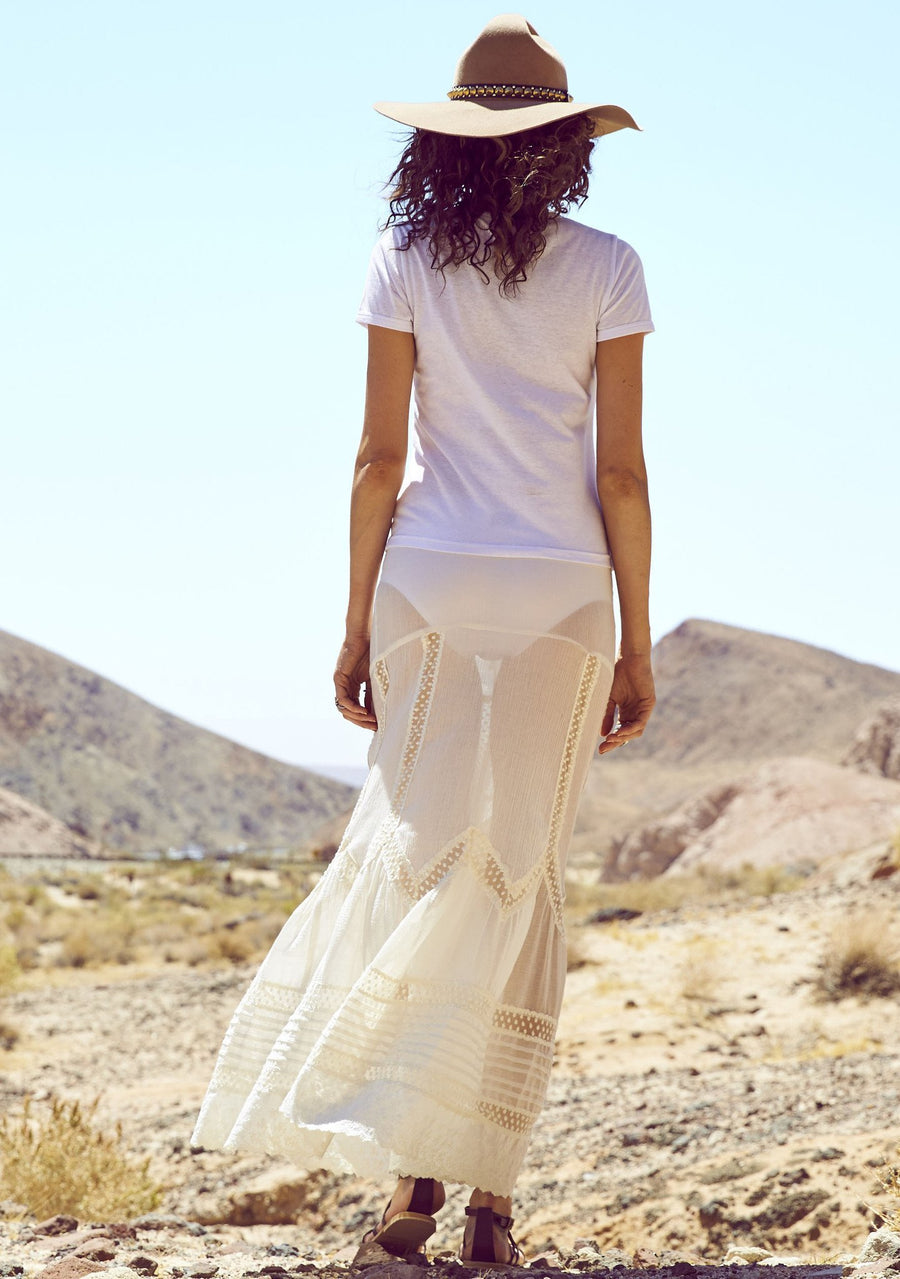 Old Days Maxi Skirt White