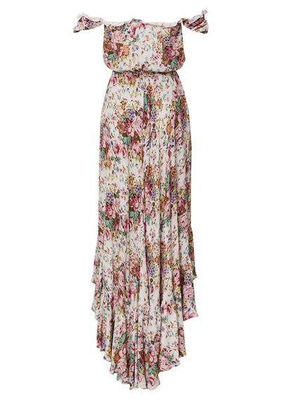 Willow Day Dress Longbeach Floral Natural - Auguste The Label