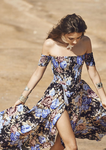 Boheme Goddess Maxi Dress Texan Bloom Midnight