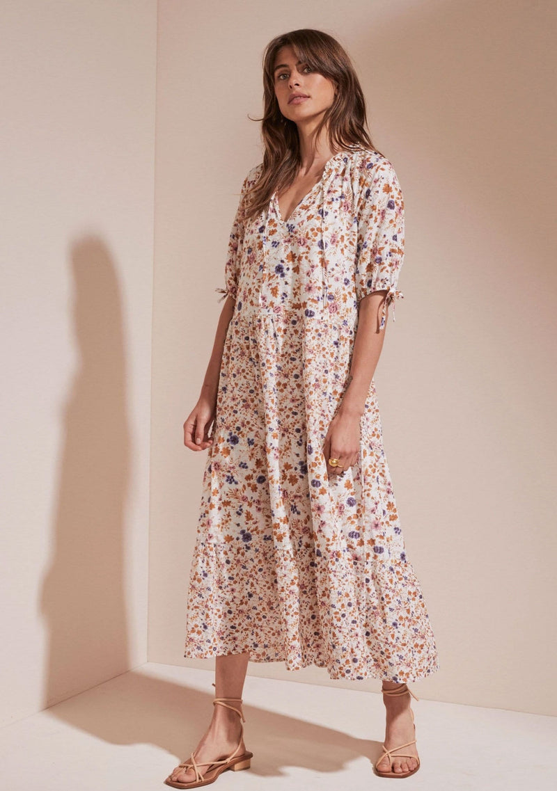 Amaliah Franco Midi Dress Off White