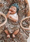 Leopard Muslin Wrap Brown - Auguste Baby - Auguste The Label