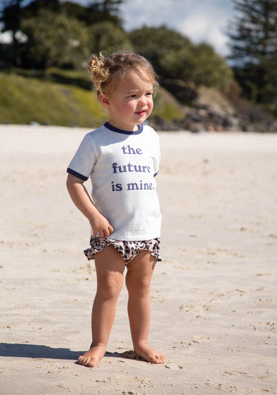 My Future Baby Ringer Tee Natural - Auguste Baby - Auguste The Label