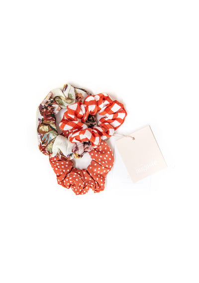 3-Pack Little Auguste Scrunchies - Banksia - Auguste The Label