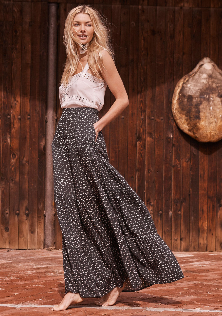 Bella Maxi Skirt Black