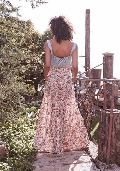 Bella Maxi Skirt Natural - Auguste The Label