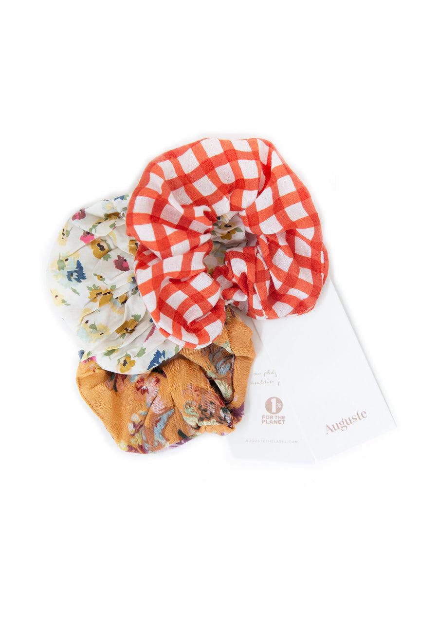 3-Pack Auguste Scrunchies - Belongil - Auguste The Label