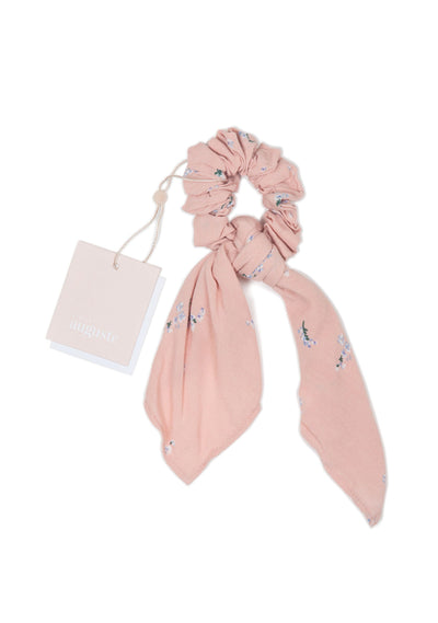 Clementine Bow Scrunchie Blush - Little Auguste - Auguste The Label