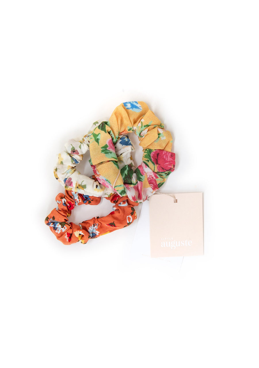 3-Pack Little Auguste Scrunchies - Coco - Auguste The Label