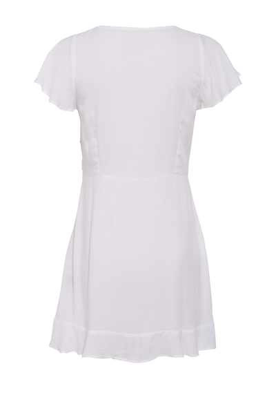Ella Split Front Play Dress White - Auguste The Label