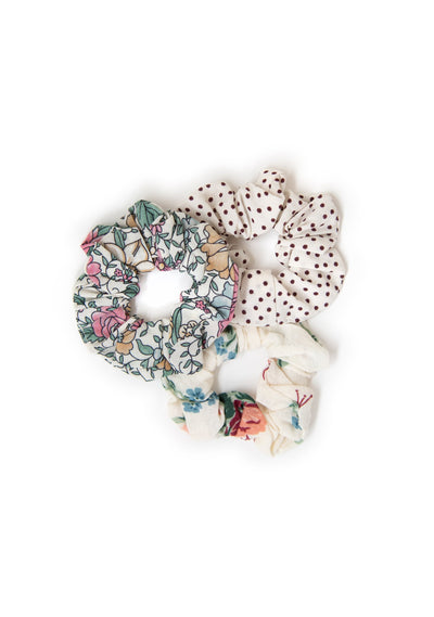 3-Pack Little Auguste Scrunchies - Feather - Auguste The Label