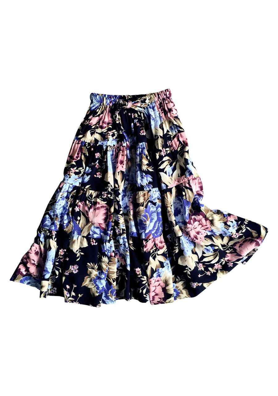 Festival Little Miss Maxi Skirt Texan Bloom Midnight - Auguste The Label