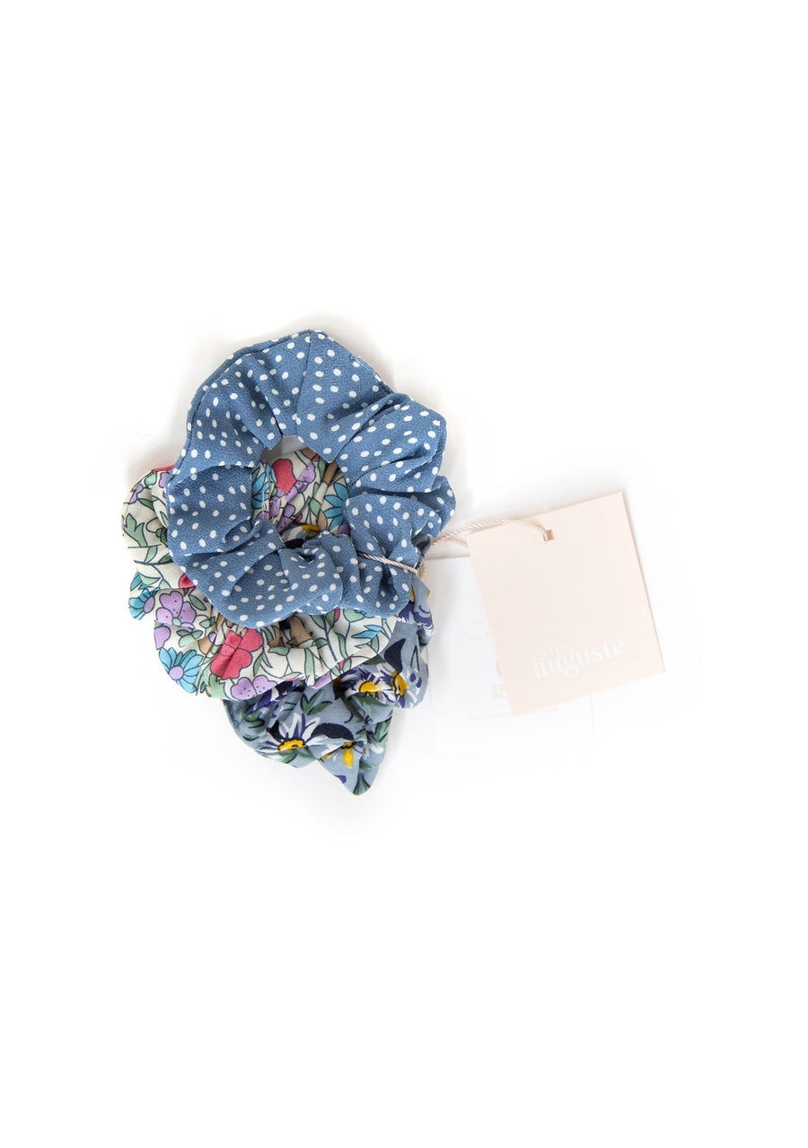 3-Pack Little Auguste Scrunchies - Frankie - Auguste The Label