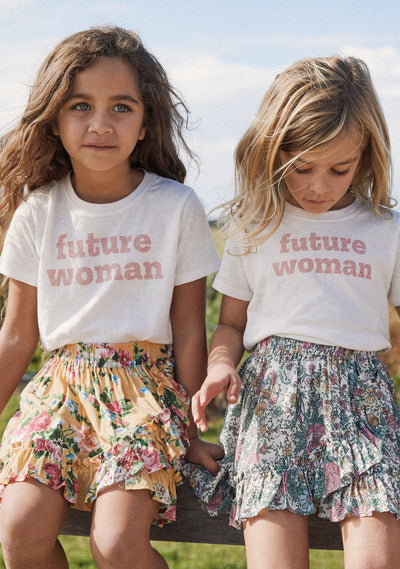 Little Auguste Future Woman Tee Off White - Little Auguste - Auguste The Label