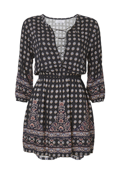 Gypsy Girl Play Dress Charcoal