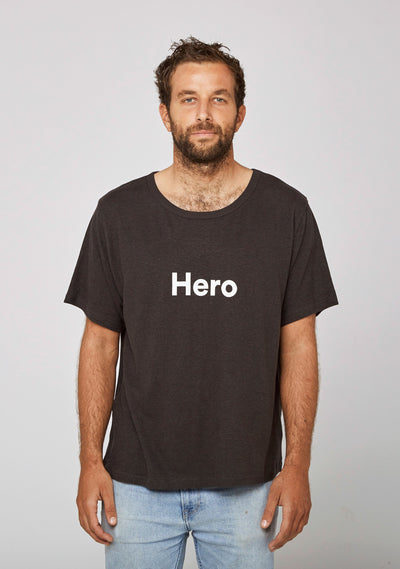 Hero Tee Washed Black - Auguste The Label