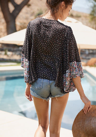 Palm Springs Poolside Top Black - Auguste The Label