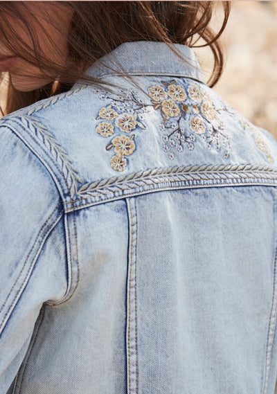 Palm Springs Denim Jacket Light Blue - Auguste The Label