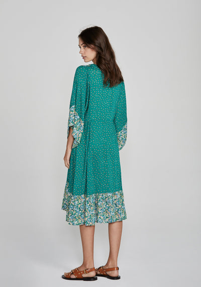 Palm Springs Poolside Midi Dress Emerald - Auguste The Label