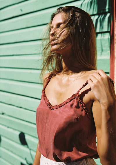 Honey Camisole Rust - Auguste The Label