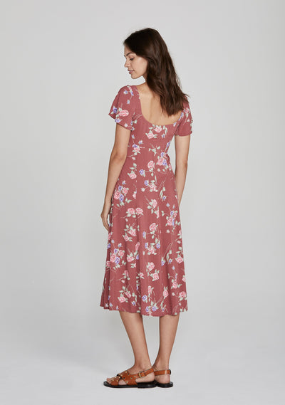 Rosa Belle Midi Dress Blush - Auguste The Label
