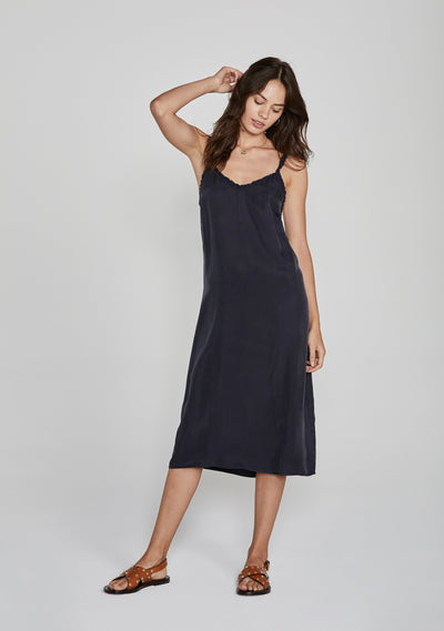 Honey Midi Dress Navy - Auguste The Label